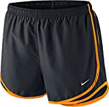 Nike Printed Tempo Running Shorts (Black/Vivid Orange, X-Small)