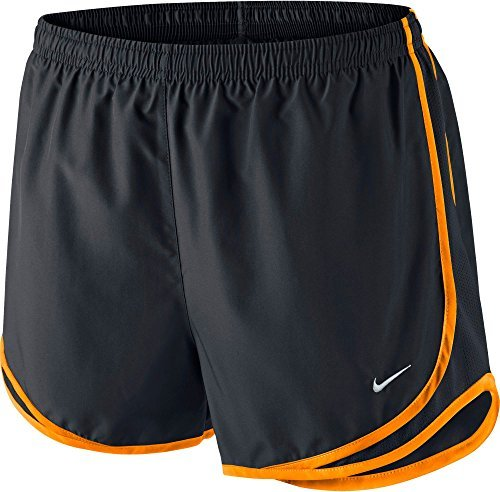 Nike Printed Tempo Running Shorts (Black/Vivid Orange, X-Small) by NIKE