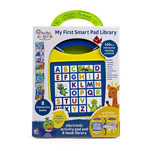 - Baby Einstein - My First Smart Pad Library Electronic Activity Pad and 8-Book Library - PI Kids