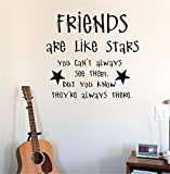 Best Are Like Stars Wall Stickers - Vinyl Wall Statement Family Diy Decor Art Stickers Review