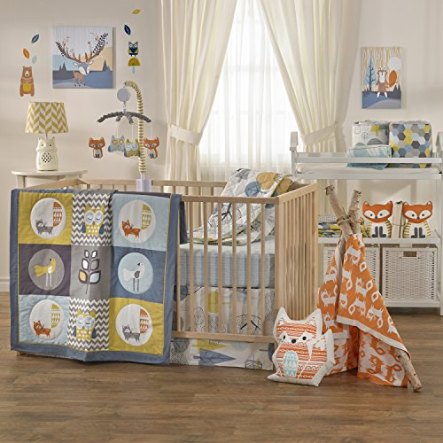Lolli-Living-Woods-4-Piece-Crib-Bedding-Set--Colorful-Bedding-Coordinates-For-Baby-Nursery-Made-From-Lightweight-Breathable-Premium-Cotton-Fits-Standard-Crib