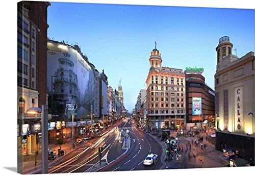 paolo-giocoso-premium-thick-wrap-canvas-wall-art-print-entitled-spain-madrid-gran-via-view-to-telefo