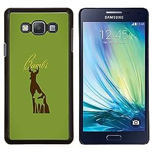 TECHCASE---Cubierta de la caja de protección para la piel dura ** Samsung Galaxy A7 ( A7000 ) ** --Bambe ciervos