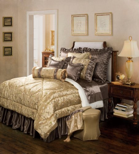 Jennifer Taylor 10 Pcs Comforter Set, Cal King size, ADDISON Collection