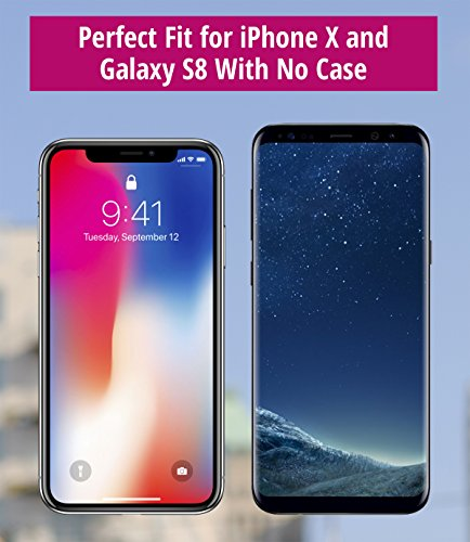 [해외]iPhone X 및 Galaxy S8 S7 용 암밴드; /Armband for iPhone X and Galaxy S8 S7 S6; Also for iPhone 8 7 6s 6 with slim case - Water Resistant - For Running & Working Out - For Women & Men [Black]