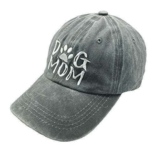 Mom Visor - Waldeal Embroidered Women Dog Mom Vintage Washed Distressed Dad Hat Adjustable Denim Baseball Cap