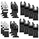 LITTLEGRASS 20PCS Wood /Metal/Nail Universal Quick Release Oscillating Saw Blades,Multitool Saw Blade For Fein Multimaster, Porter Rockwell Cable ,Black & Decker ,Bosch Craftsman and more