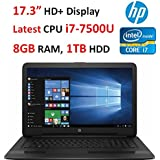 2017 Model HP 17.3 HD+ High Performance WLED Backlight Laptop, 7th Gen Intel Core i7-7500U, 8GB RAM, 1TB HDD, Windows 10
