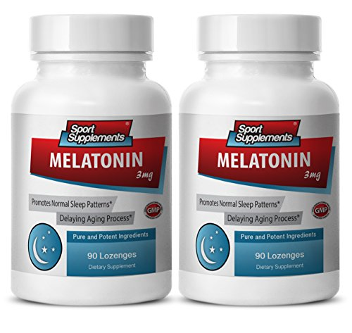 Melatonin extended release 3mg - Melatonin 3mg - Promotes quality sleep (2 Bottles - 180 Lozenges)