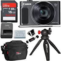 Canon PowerShot SX620 Digital Camera w/25x Optical Zoom - Wi-Fi & NFC Enabled (Black), SanDisk Ultra 16GB SDHC Memory Card, Ritz Gear Mirrorless Large Point & Shoot Camera Bag and Accessory Bundle