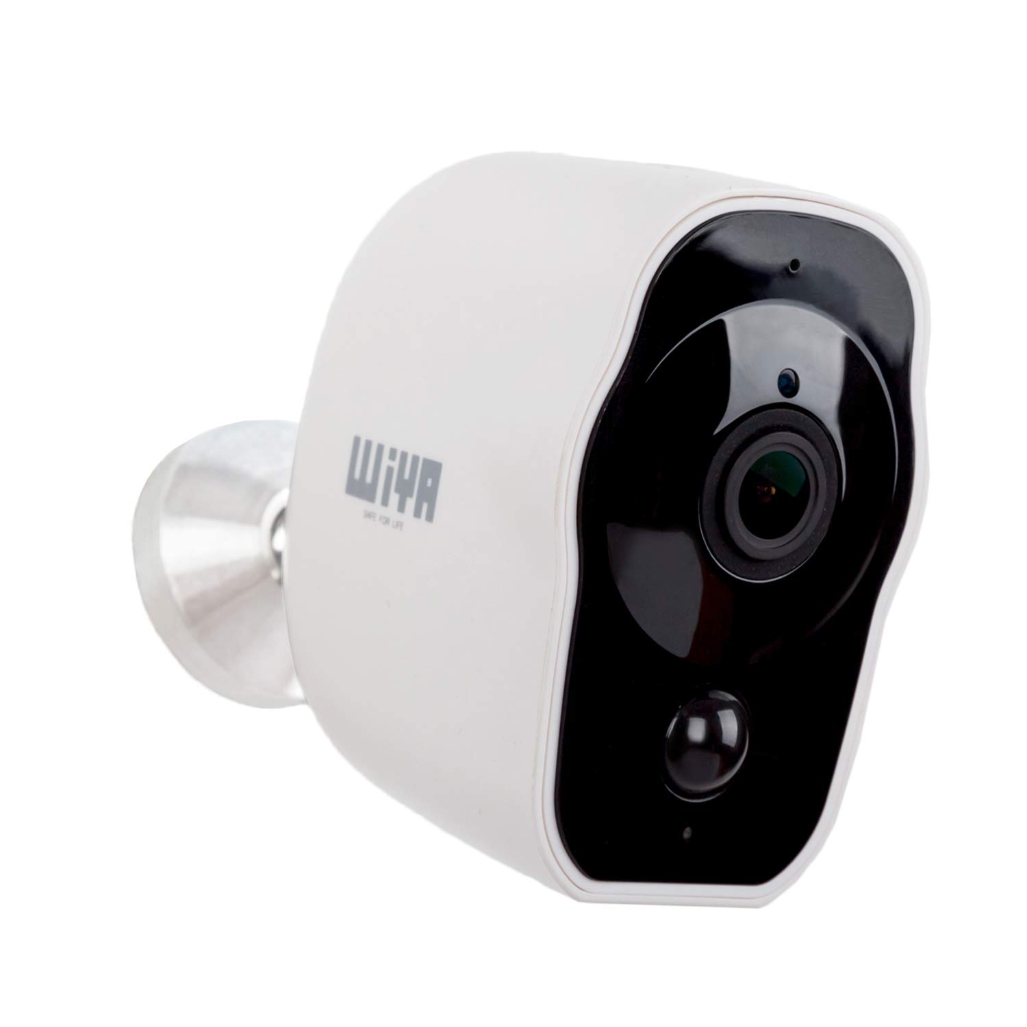 Wireless Rechargeable Battery Powered Camera, WiYA 2.4G WiFi Wire-Free Security Camera HD for Outdoor/Indoor, Home Surveillance Camera with Waterproof丨2-Way Audio丨Night Vision丨PIR Motion Sensor by WiYA