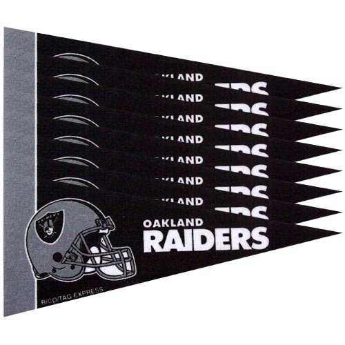 Oakland Raiders 8 Piece Mini Pennant - Wall Raiders Decorations Oakland