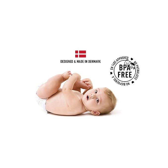 bibs chupetes goma 100% natural Blush/Woodchuck 0-6 meses para bebés ...