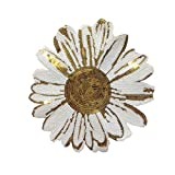 Miaomiaogo Handmade Thread Sewing Sunflower Clothes Patches Sequin Applique Costume Clothing Paste Decor