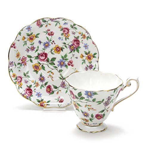 - Cup & Saucer by Royal Standard, China, Chintz Floral