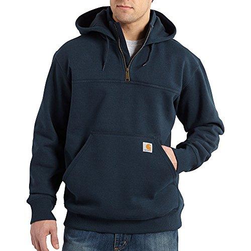 Carhartt Men's  Rain Defender Paxton Heavyweight Hooded Zip Mock Neck Sweatshirt,New Navy,XXX-Large Tall by Carhartt