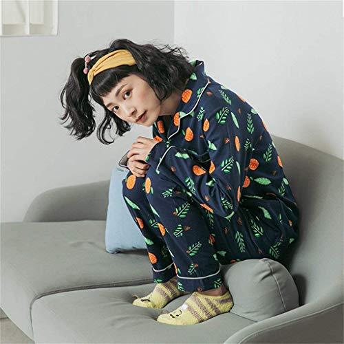 Manga De Casuales Conjunto Pijama Pedazos Camisones El Mujer Largo Estilo V Moda Para As Un Ropa Albornoz Primavera Pants Shown Pijamas Pecho Tops Otoño Batas Solo Especial cuello Hogar 2 Elegante ZR6wfxO
