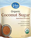 Viva Labs Organic Coconut Sugar: Non-GMO, Low-Glycemic Sweetener, 6 lbs Bag