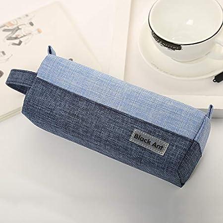 Jasonzhou Estuche Útiles Escolares Nueva Caja de lápices con Cremallera de Estudiante Coreano Caja de papelería de Lona Caja de lápices publicitaria by (Color : Blue): Amazon.es: Hogar