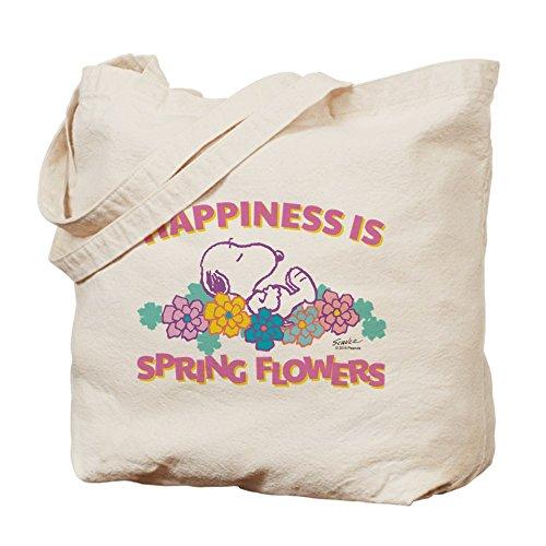 CafePress–Snoopy Flowers–Gamuza de bolsa de lona bolsa, bolsa de la compra