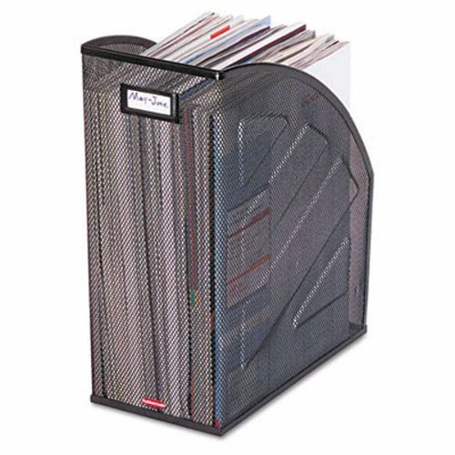 Rolodex Products - Rolodex - Nestable Rolled Mesh Steel Jumbo Magazine File, 5 7/8 x 10 x 12 1/2, Black - Sold As 1 Each - Nestable design saves space, increases efficiency and productivity. - 50% more capacity than standard magazine files to hold more magazines, periodicals and journals. - Features name plate for labeling (label not included). ()