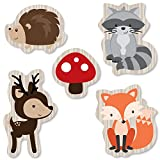 woodland animals party supplies - Woodland Creatures - DIY Shaped Baby Shower or Birthday Party Cut-Outs - 24 Count