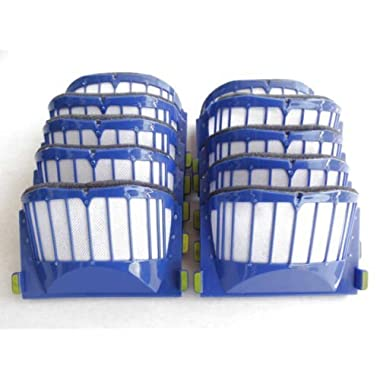 LOOYUAN 10 x Aero Vac Filter for iRobot Roomba 500 600 Series 536 550 551 620 650 Vacuum Cleaner Accessory