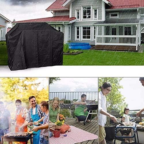 HOXMOMA Telo Copri Barbecue Copertura per Barbecue, Copertura Barbecue Resistente allo Strappo Impermeabile 210D Oxford, Telo Copri Barbecue Protettivo per BBQ,XXL