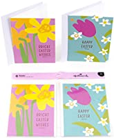 Hallmark Easter Greeting Card Assortment (3 Cards Each of 2 Designs and 6 Envelopes, Spring Flowers)