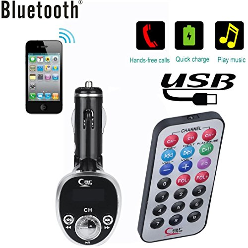 DZT1968 Bluetooth Music Receiver 3.5mm 60dB Adapter Handsfree U Disk Car AUX Speaker FM Transmitter