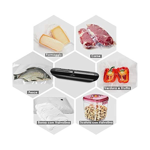 Macchina Sottovuoto per Alimenti Professionale LOFTER Sigillatrice Sottovuoto Automatica Portatile Vacuum Sealer… 6