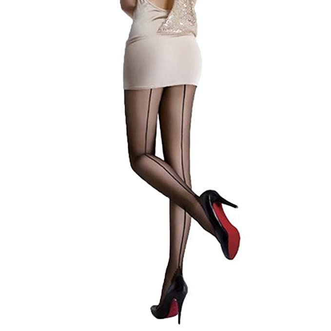 L/&K-II Medias para Mujer Microfibra Overknee-Look One Size 27215 Negro VA