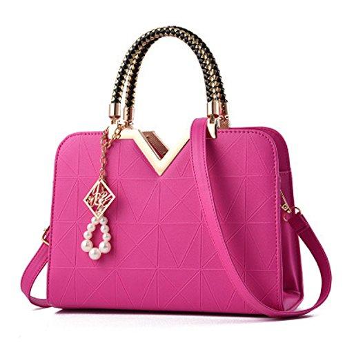 rosa hombro 20cm Rosa portable roja 28 al × 12cm xiaohu mujer Roja × 5cm para Bolso × 13cm EXqn7CU