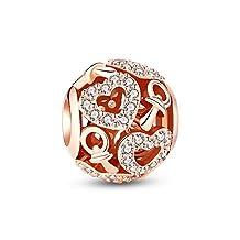 Glamulet Art - Cystal Paved Lovely Nipple Rose Gold Charm -- Fits Pandora Bracelet