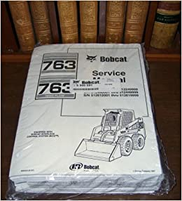 bobcat 763 & 763h skid steer loader service manual ring-bound – 1997