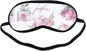 All Polyester Perfume Romantic Scent Design Retro Color Sleeping Eye Masks&Blindfold by Simple Health with Elastic Strap&Headband for Adult Girls Kids and for Home Travel