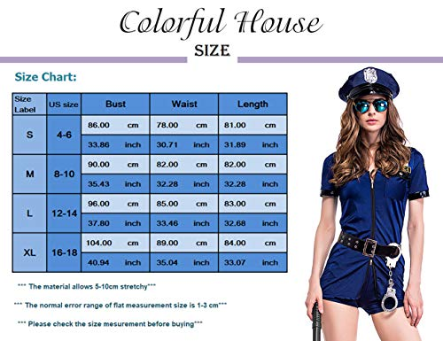 Halloween Police Uniform Costume With Handcuffs Belt Hat