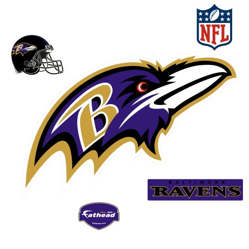 Baltimore Ravens Logo Wall Decal (Football Disney Helmet)