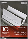 Black Carbon Mill Finish Paper, 8-1/2 x 11-1/2, 10 Sheets