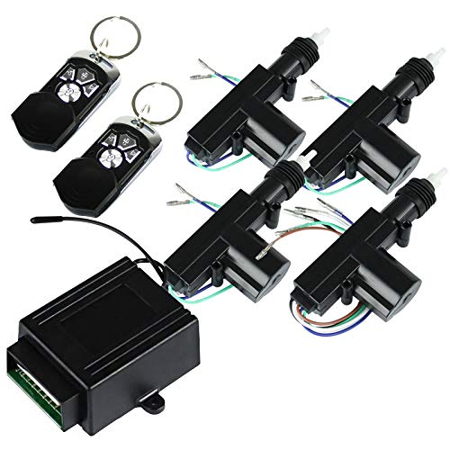 Central Locking System Kit Universal Keyless Entry Remote (4 Buttons)