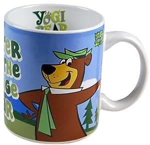 "Pop Art Products - Taza, diseño del Oso Yogi con texto ""Smarter Than The Average Bear"""
