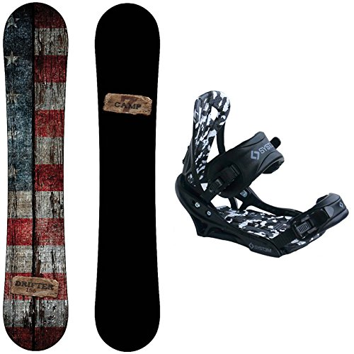 Camp Seven Drifter Snowboard with System APX Bindings Men's 2021 Snowboard Package