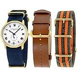 Frederique Constant Slimline Gold Men's Watch FC235M4S5GRYOR + 2 Extra...