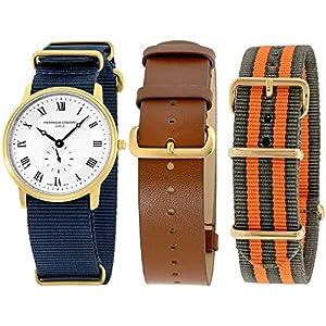 Frederique Constant Slimline Gold FC235M4S5GRYOR - Reloj de Pulsera para Hombre, 2 Correas adicionales 1