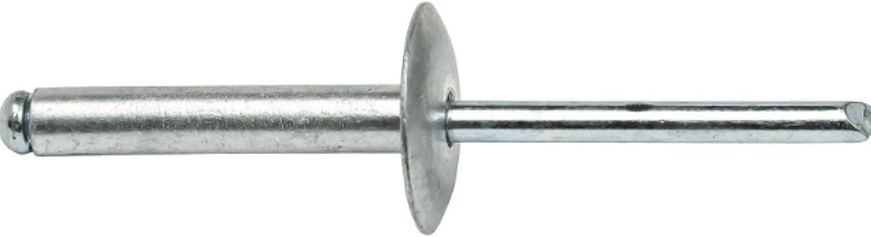 50 Pack Large Flange Pop Rivets 3//16 x 1 Size Aluminum Body Steel Mandrel 6-16