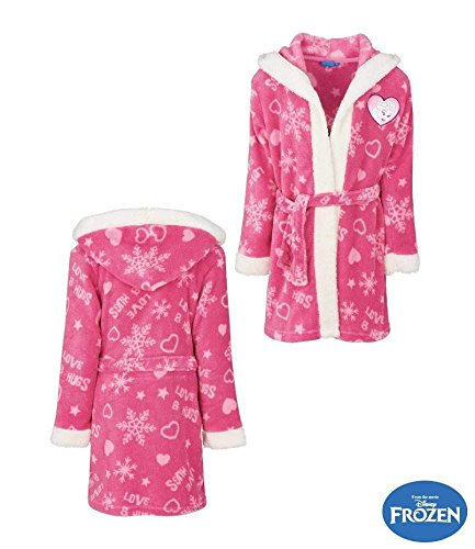 Pink Disney Frozen Coral Fleece Bathrobe Hood