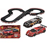 Carrera 25230 Evolution Ferrari Trophy Slot Car Race Set 1:24 Analog Track (Includes 2 1:32 Scale Vehicles and 2 Controllers), Ages 8+