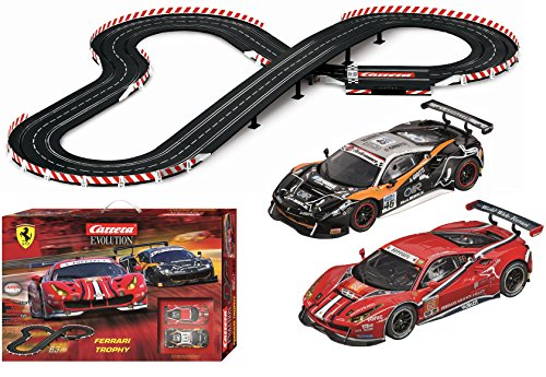 - Carrera Evolution 20025230 Ferrari Trophy Analog Electric 1: 32 Scale Slot Car Racing Track Set