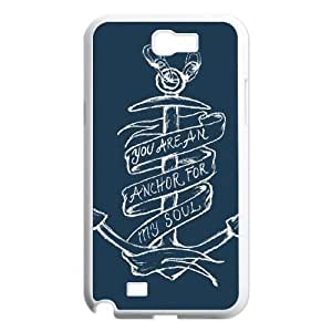 Samsung Galaxy N2 7100 Cell Phone Case White Anchor Quotes mmlz