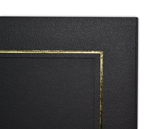 Golden State Art, Cardboard Photo Folder for 3 5x7 Photo (Pack of 50) GS005 Black Color by Golden State Art (Image #6)